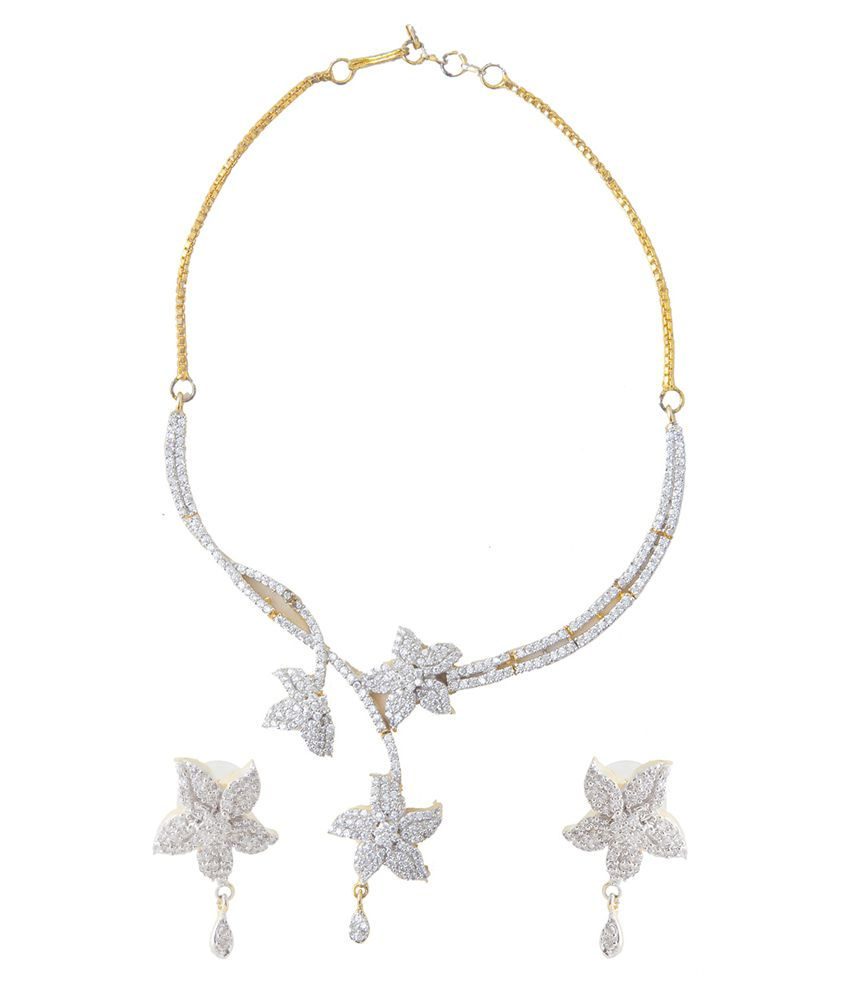Aaina White Necklace Set