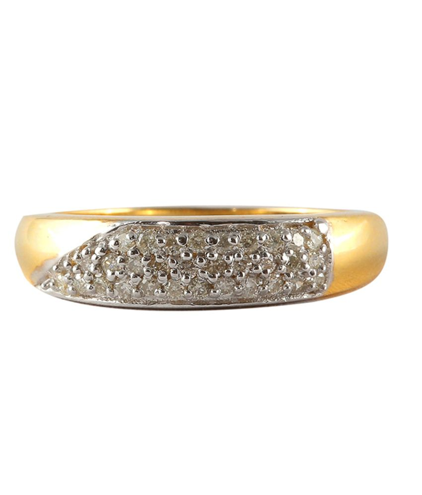 C L Diamonds 14Kt Gold Traditional Diamond Ring