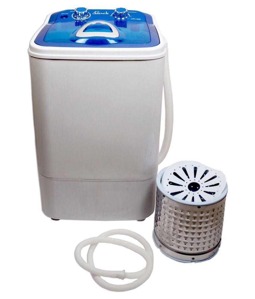 Lonik Portable Mini 4.6 kg wash and 2kg Spin LTPL-4060 Semi Automatic Top Load Mini Washing Machine Blue