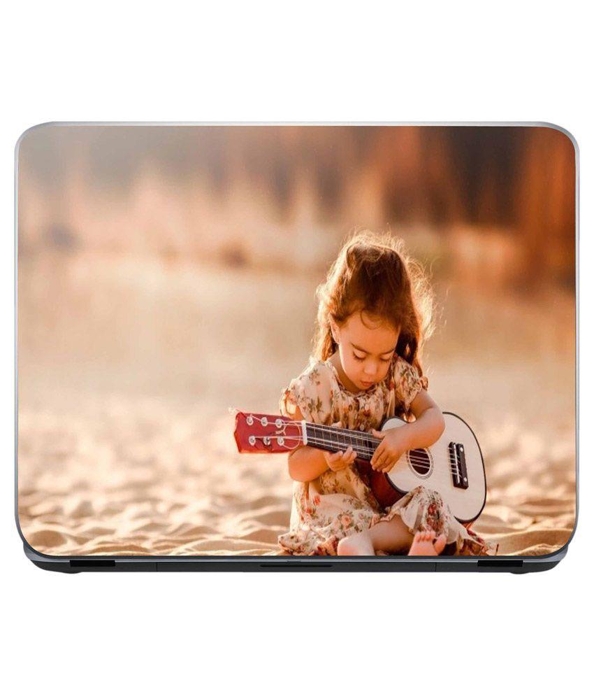 Shopnow Cute Little Girl Playing Guitar Laptop Skin Buy Shopnow