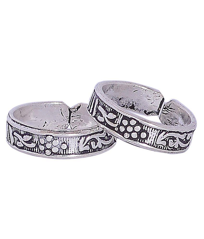 Silver Shop Paisley Silver Toe-rings