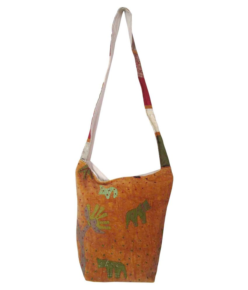 Indianart Multicolour Shoulder Bag