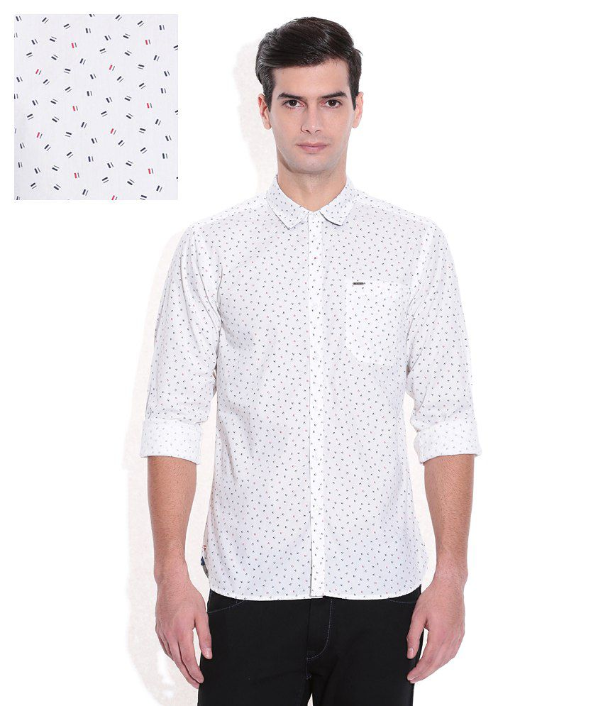 b7551935 Lee White Printed Shirt - Buy Lee White Printed Shirt Online at Best Prices  in India on Snapdeal