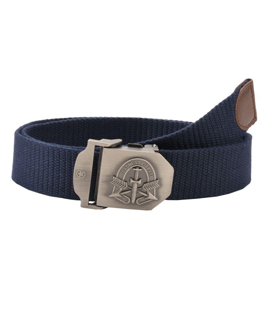 Tiekart Navy Casual Reversible Belt For Men