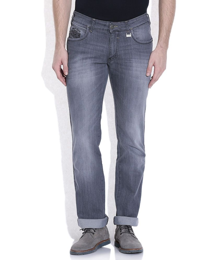 Wrangler Gray Regular Fit Jeans