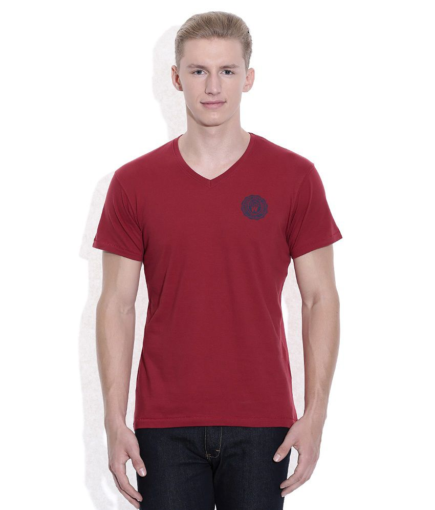 wrangler red v neck t shirt buy wrangler red v neck t