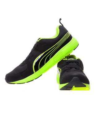 Puma Green And Black Running Shoes