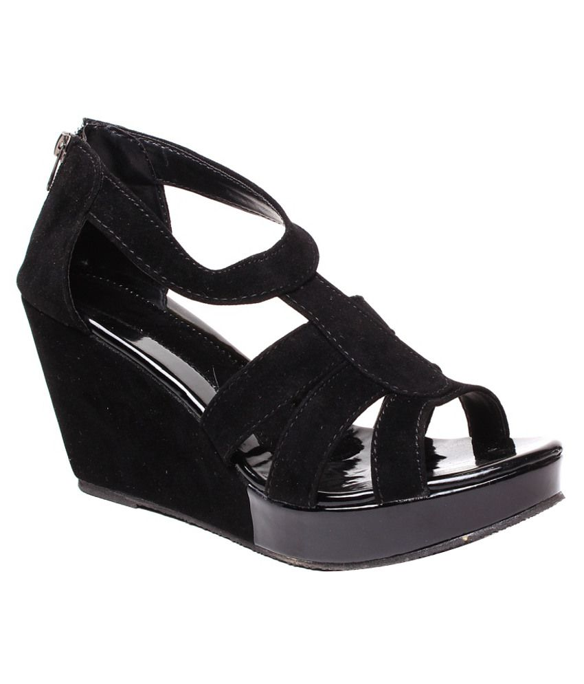 Anand Archies Striking Black Heeled Sandals