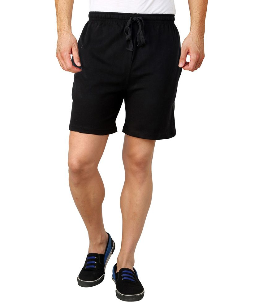 Lemon & Vodka Black Cotton Shorts
