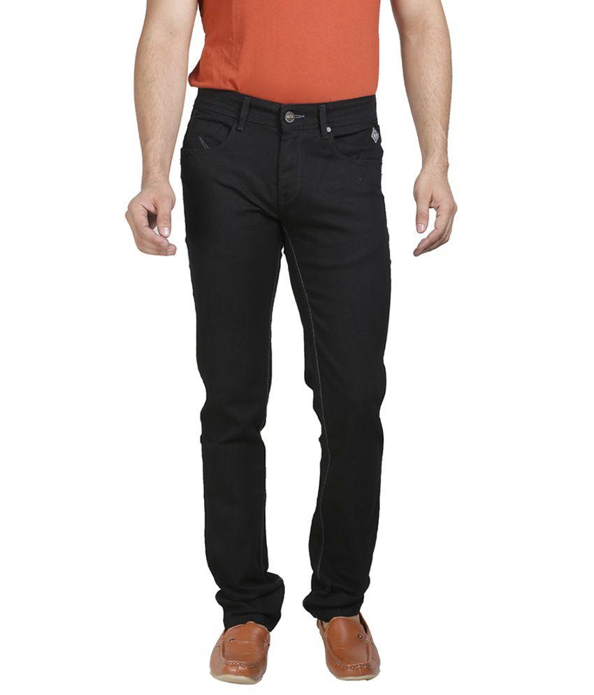Mojave Black Cotton Jeans