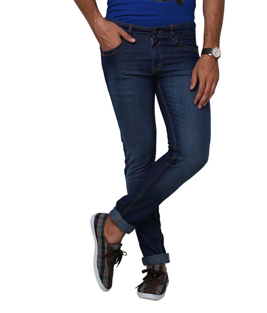 Yepme Richard Navy Blue Denim Jeans - Dark Wash