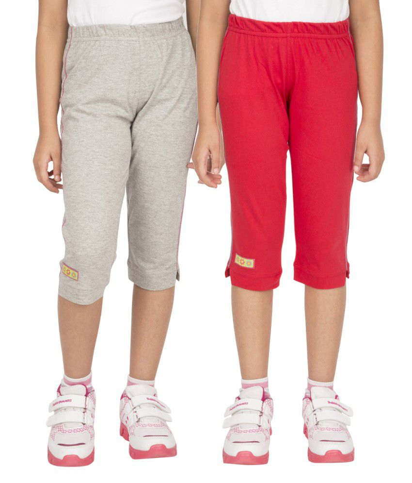 Ocean Race Stylish Cotton Capris - Pack Of 2