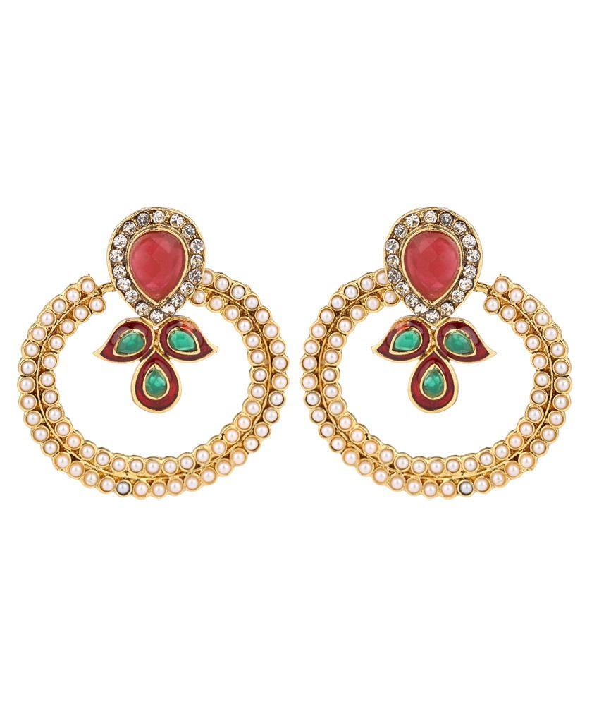 Aksh Bridal Alloy Hangings Earrings