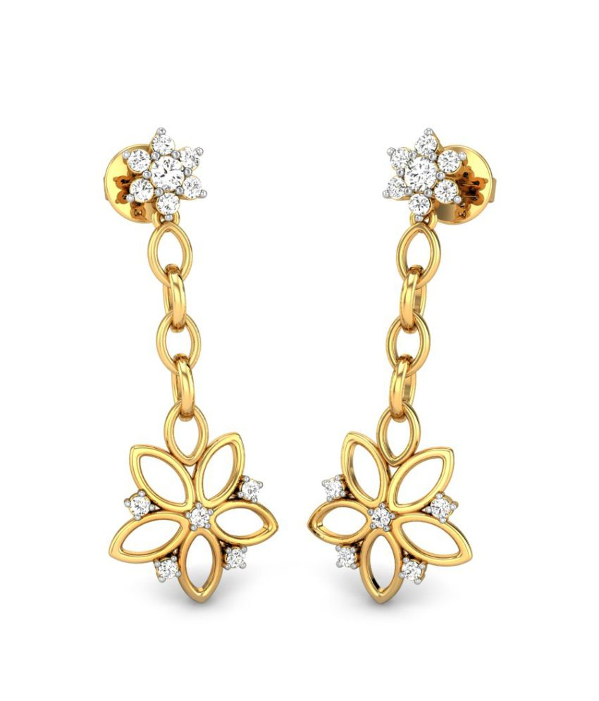 Candere Mallory Yellow Gold 14K Diamond Earrings