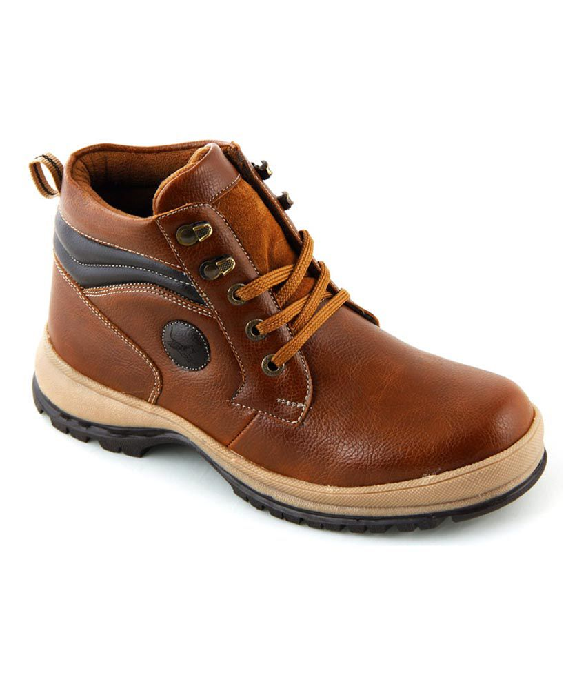 Tiger Hill Tan Synthetic Leather Boots