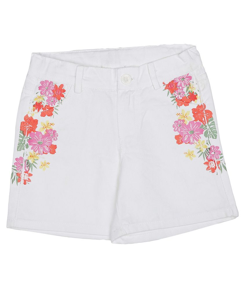 Addyvero White Denim Shorts