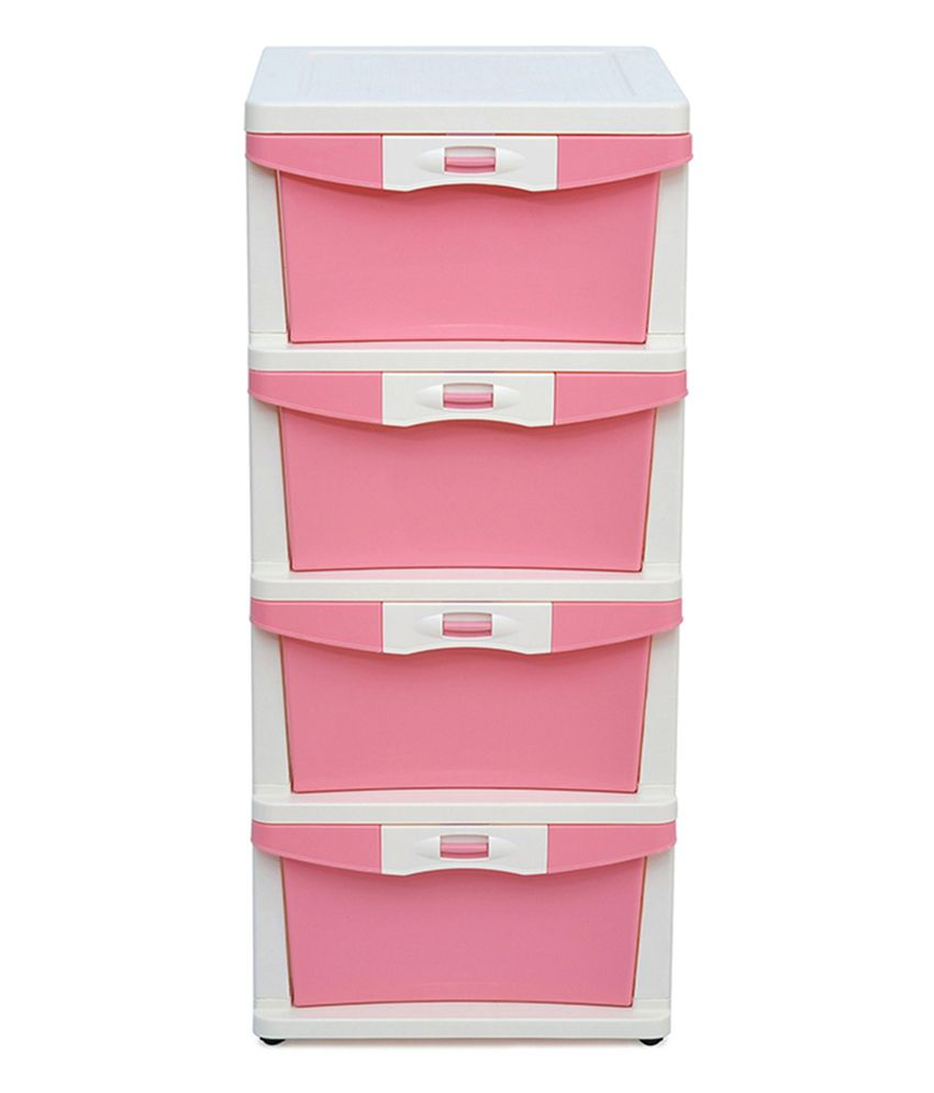 Chester storage cabinet with drawer in pink buy