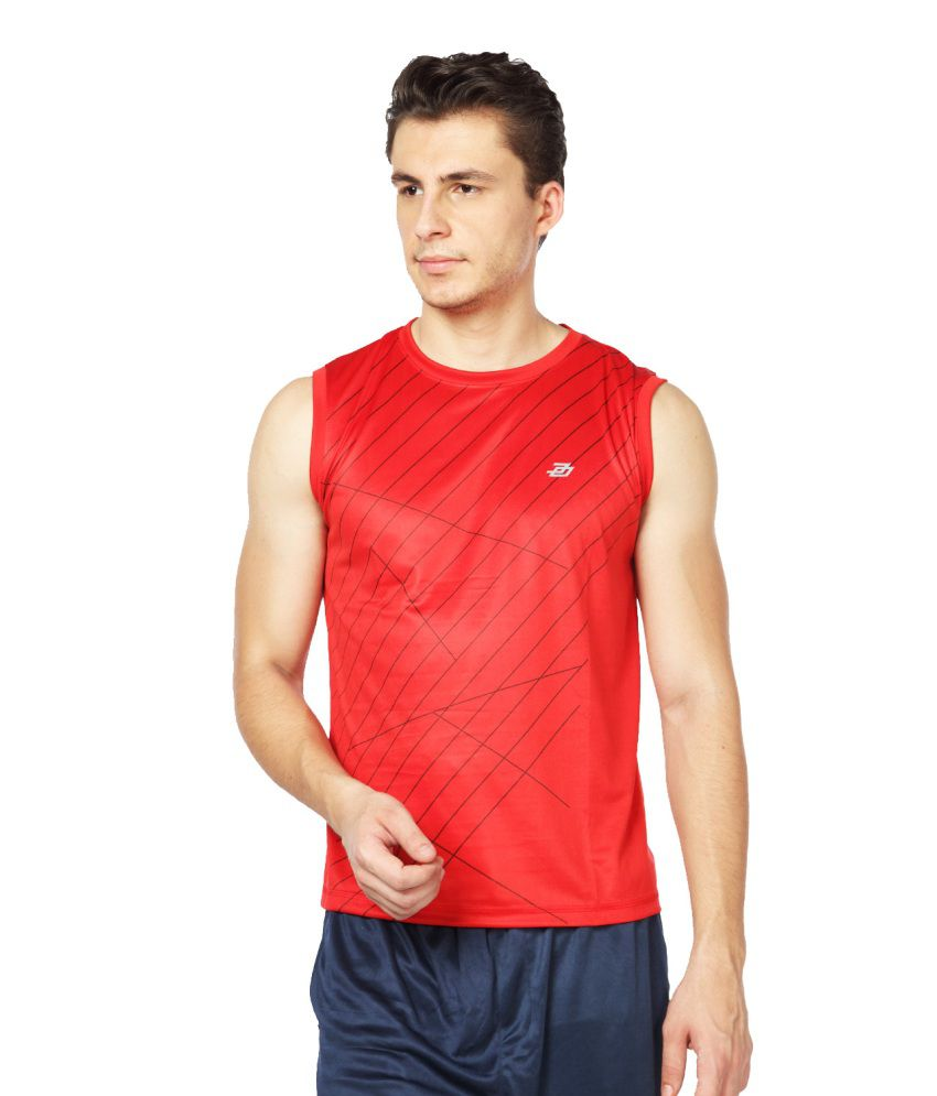 Difference Of Opinion Red Polyester Sports Wear T-shirt