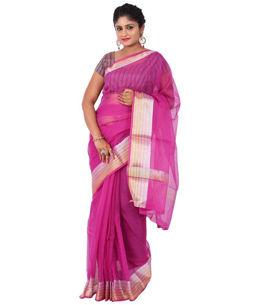 Maharaja Fashion Pink Art Silk Saree