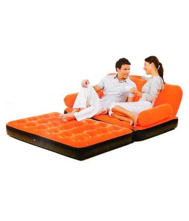 Inflatable Sofa Buy Online: Buy Bestway 5 In 1 Air Inflatable Sofa In Orange