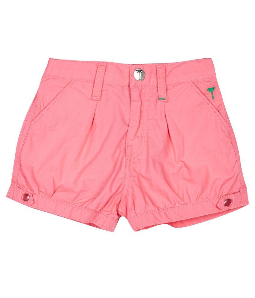 Gini & Jony Pink Cotton Shorts