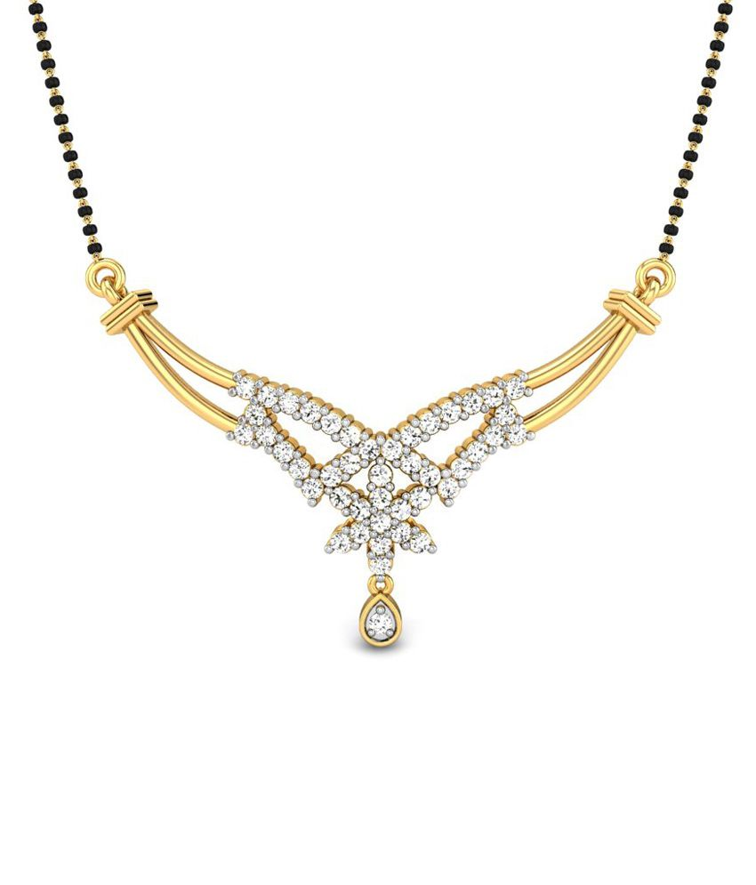 Candere Sonali Yellow Gold 18k Mangalsutra Pendant