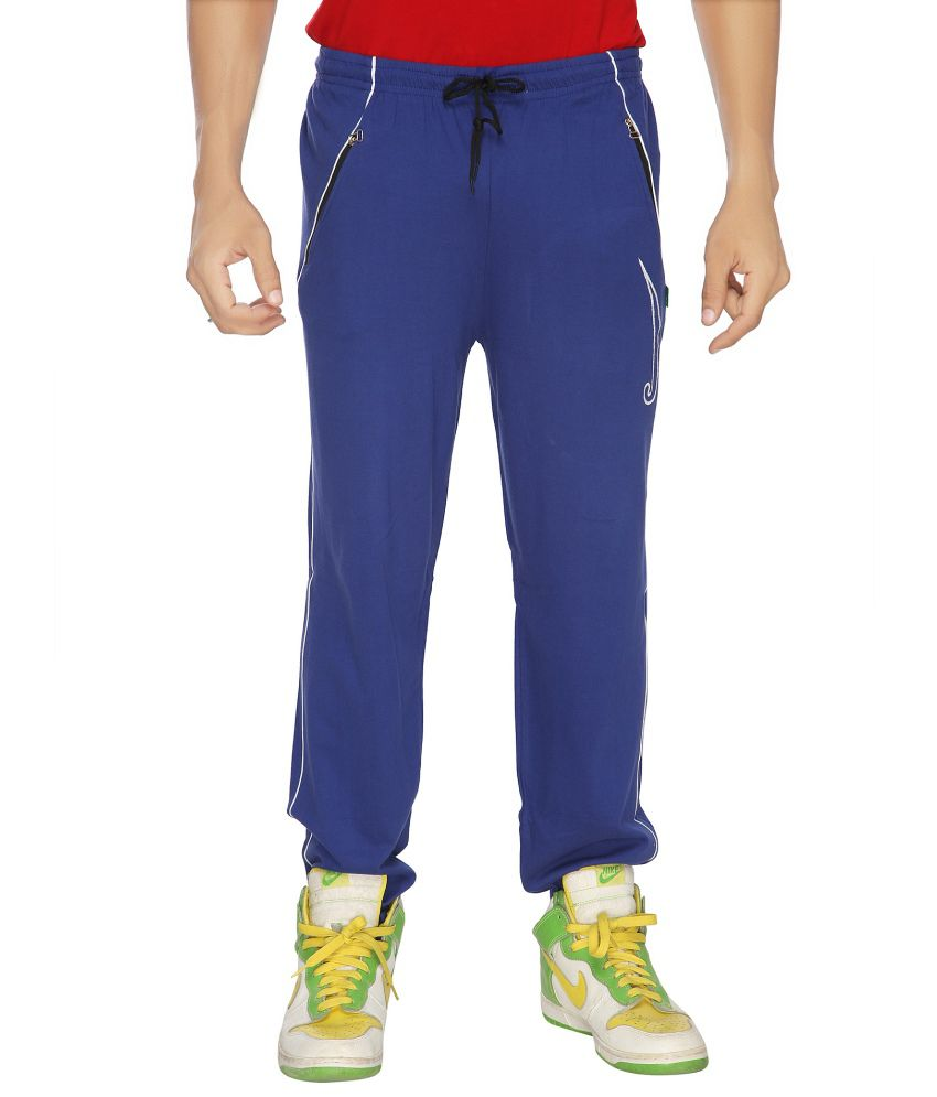 Filmax Blue Cotton Hosiery Track Pant