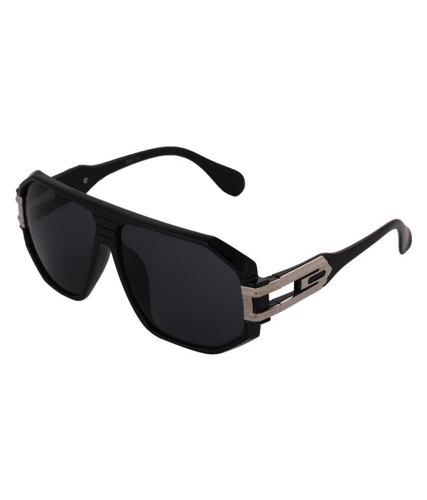 Pede Milan Black Large Men Oversized Sunglasses