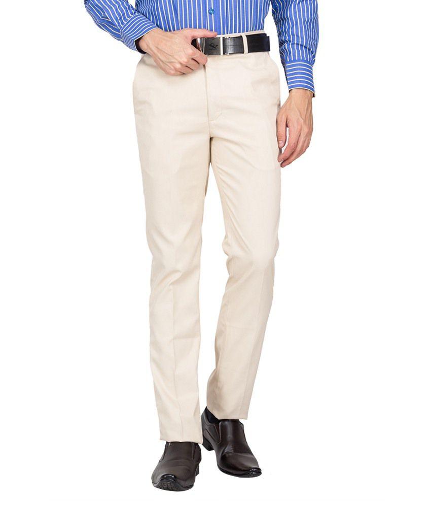 Perch White Cotton Formal Trouser