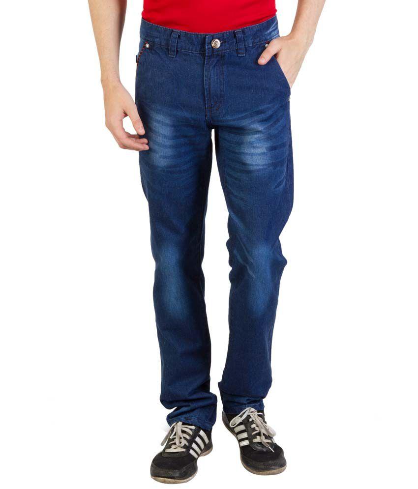 Bloos Jeans Blue Cotton Blend Mid Rise Jeans