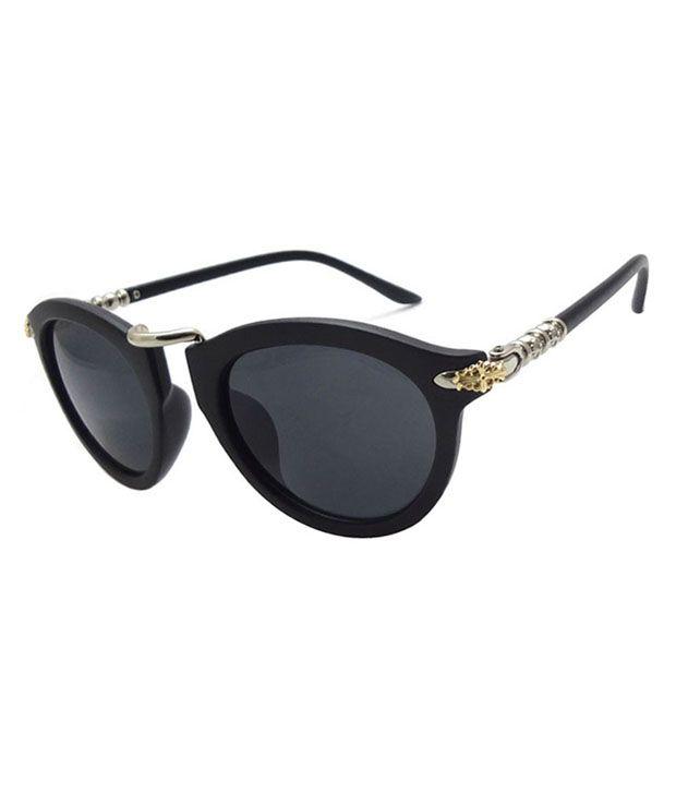 FNF Black Non Metal Stylish Sun Glasses
