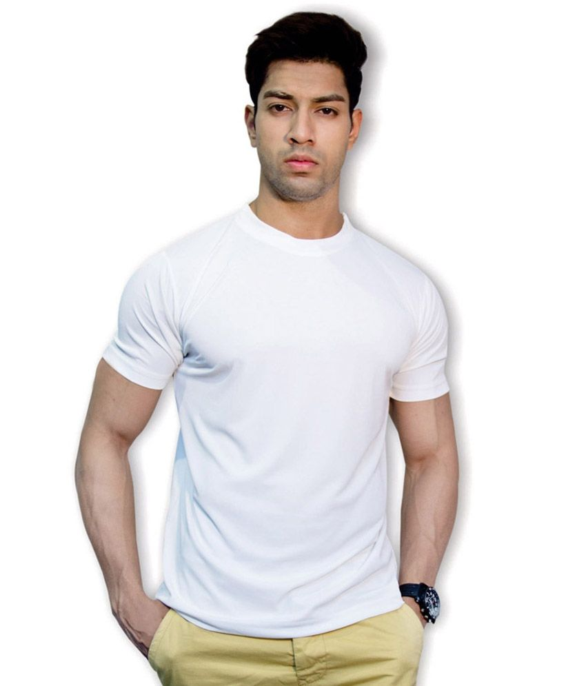 Wynstar Creations White Cotton T -shirt
