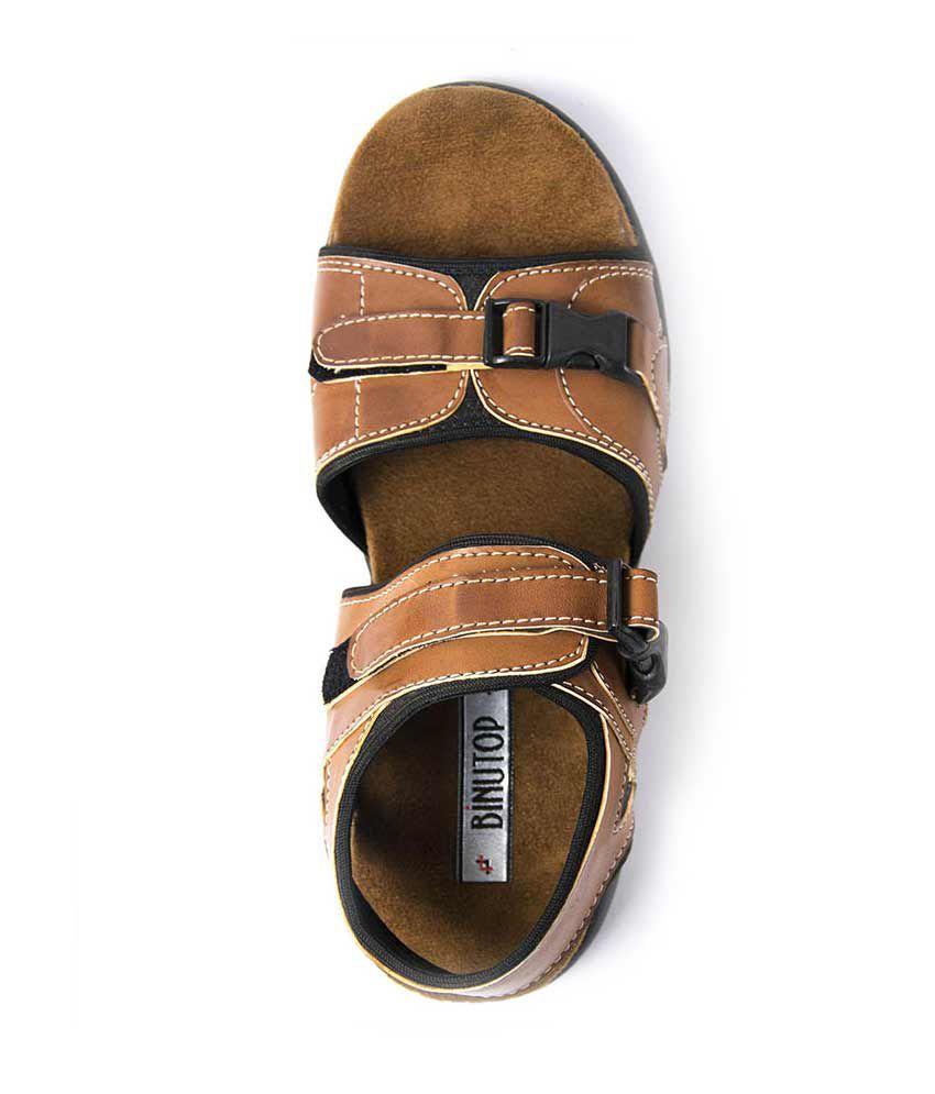 8c27af1d822 Binutop Tan Velcro Sandals Price in India- Buy Binutop Tan Velcro ...