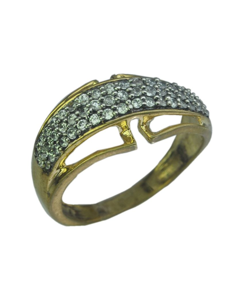 g v jewels golden 925 sterling silver designer ring for