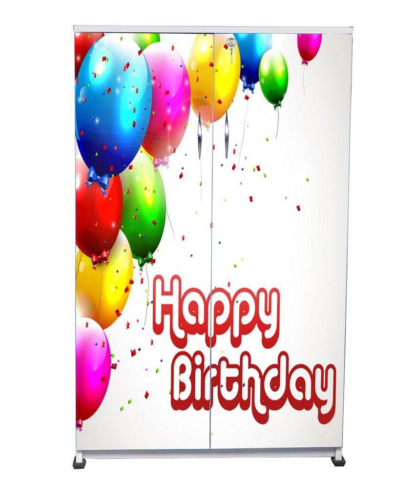 Happy Birthday Kids Wardrobe In Blue Buy Happy Birthday Kids