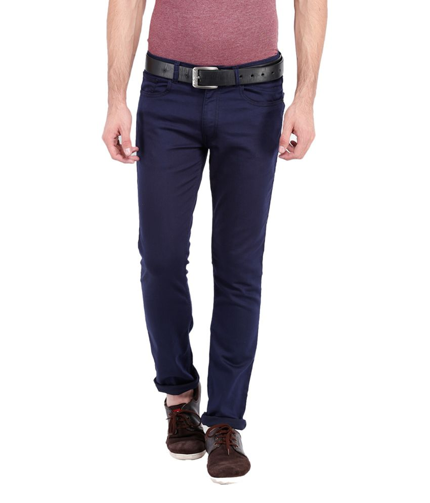 Locomotive Slim Fit Navy Blue Jeans