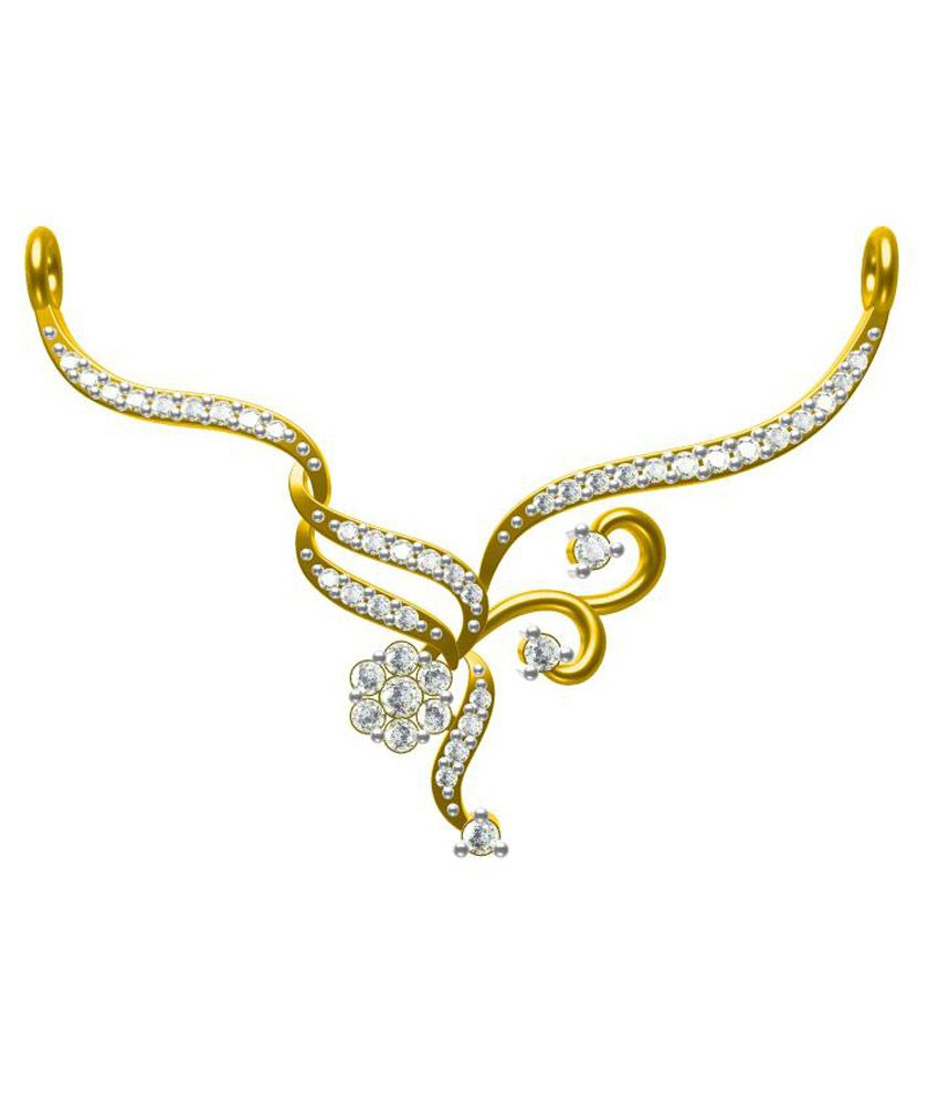 Sakshi Jewels 18kt Golden Diamond Mangalsutra Without Chain