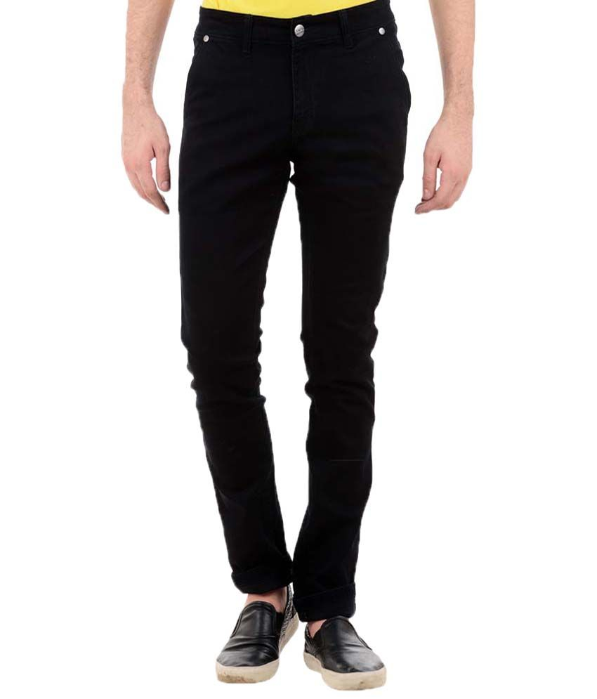 TNG New York Captivating Black Slim Fit Denims for Men