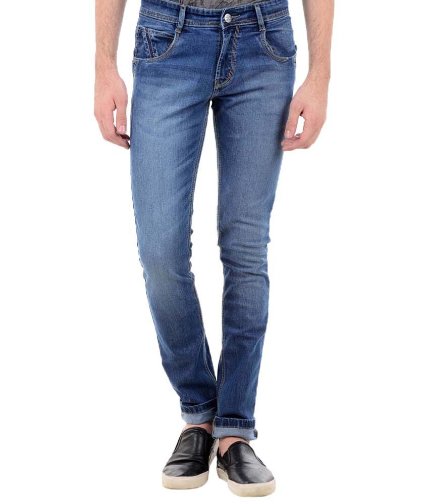 TNG New York Perfect Blue Slim Fit Denims for Men