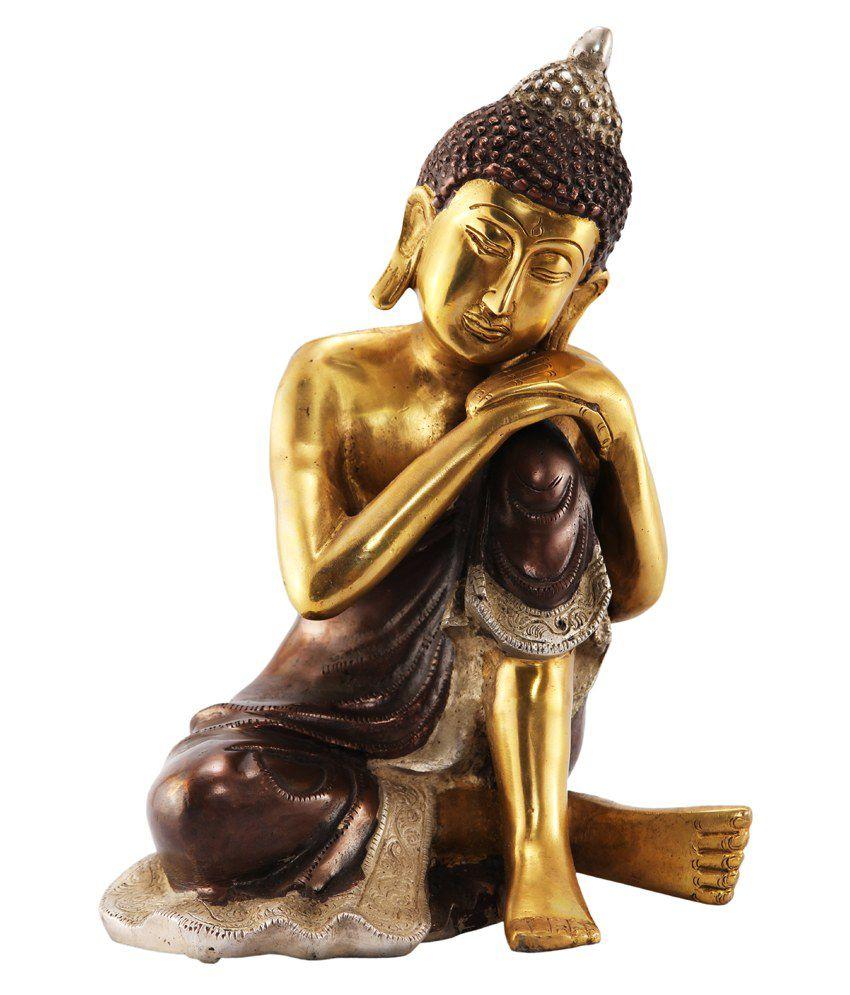 Ark Creation Glossy Brass Buddha Idol