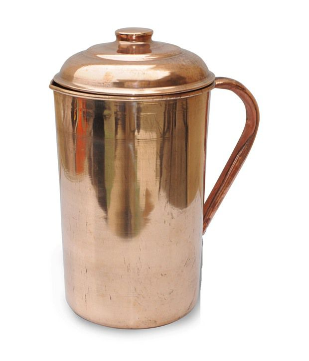 Kt Pure Copper Water Jug/Copper Pitcher With Lid/Drinkware/Tamba Jug