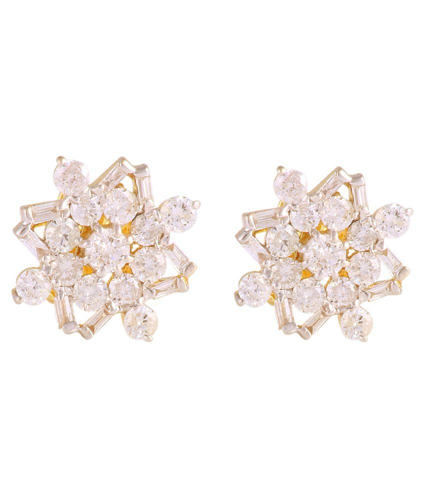 Madan Jewellers Taksh 14kt Gold Dimond Studs