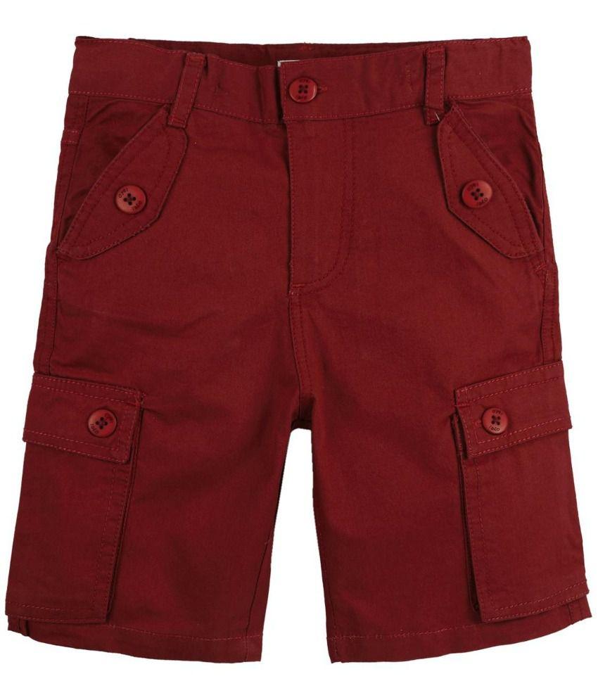 Oye Brown Cotton Shorts