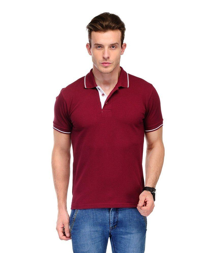 Cnmn maroon cotton t shirt for men buy cnmn maroon for Maroon t shirt for men