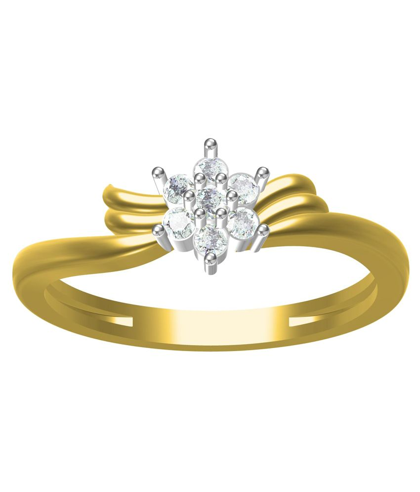 Friend's Jewells 18kt Gold Contemporary Hallmarked Ring