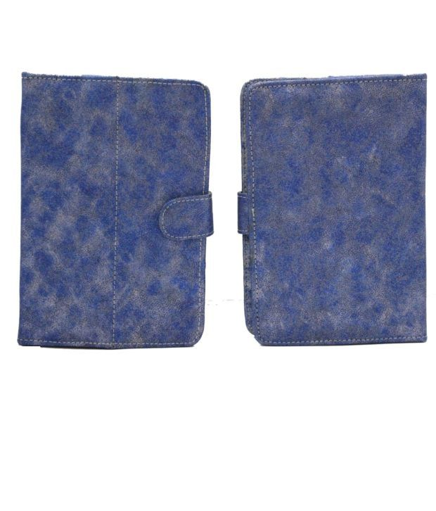 Jo Jo Metal YB Flip Flap Case Cover Pouch Carry For Hcl Me Tablet U2 Blue