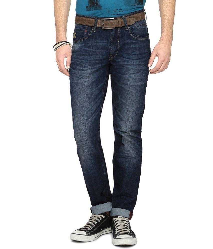 SF Jeans by Pantaloons Blue Slim Fit Men's Jeans