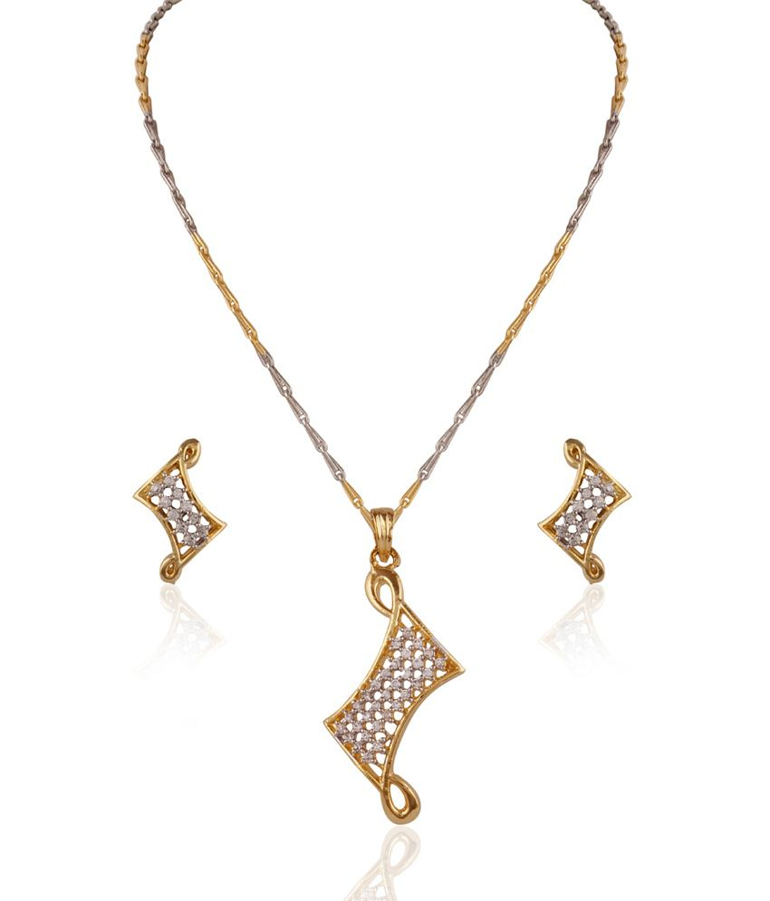 variation gold contemporary beautiful pendant with chain