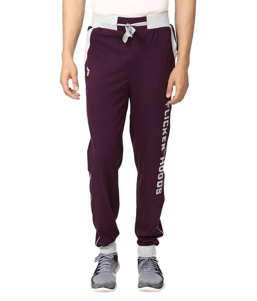 Flicker Hoods Purple Premium Cotton Track Pant