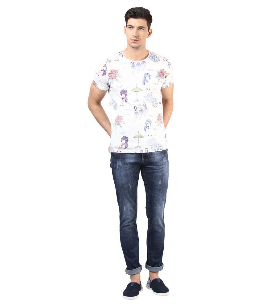 3concept Blue Cotton Slim Fit Jeans